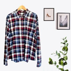 Men Shirt Big Plaid